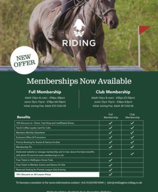 Membership at Wellington Riding